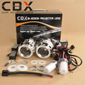 CBX G8 H4 H7 2.5 polegadas Mini WST ESCONDEU Bi xenon Projetor Xenon lente Lâmpada CCFL Angel Eye Halo para Farol Do Carro Retrofit Kit