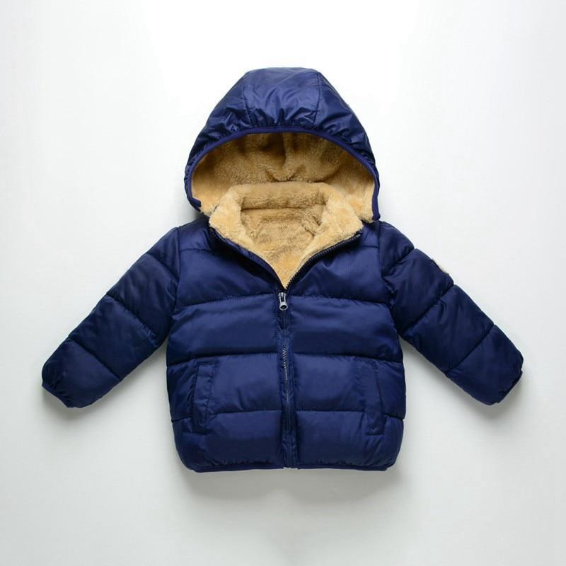 COOTELILI Fleece Winter Parkas Kids Jackets For Girls Boys Warm Thick Velvet Children's Coat Baby Outerwear Infant Overcoat (3)