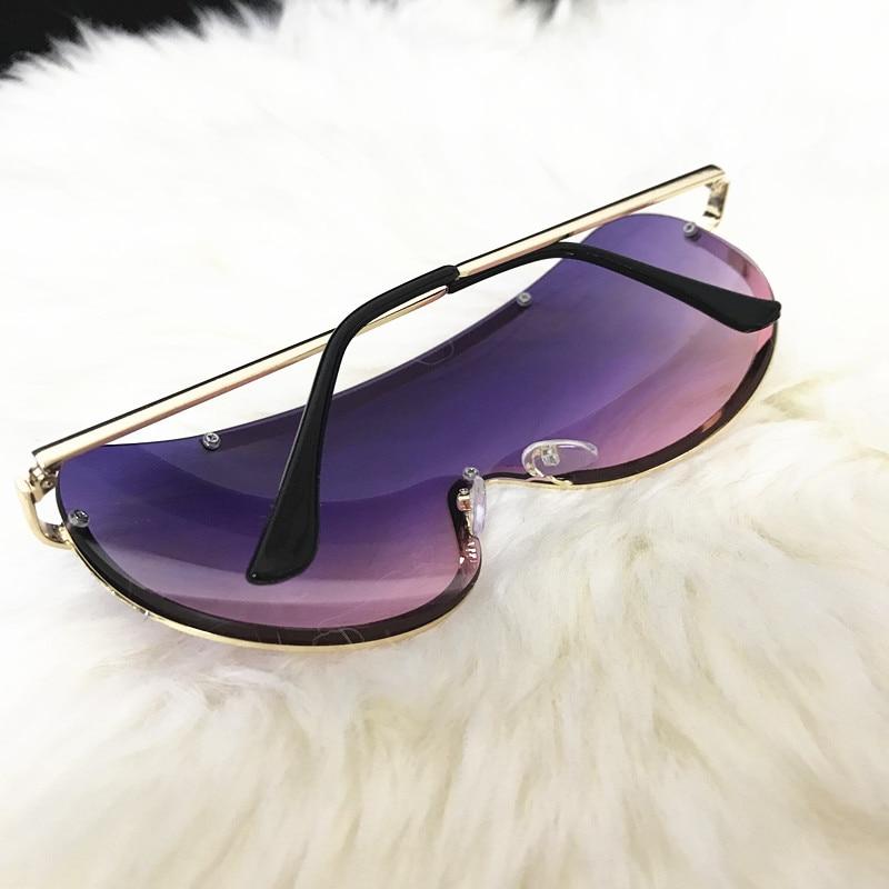 Rimless Gold Clear Sunglasses Men Women Brand Designer Aviator Clear Sunglasses 18
