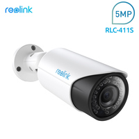 Reolink SD Card PoE IP Surveillance Camera HD 4MP 4x Optical Zoom Autofocus Bullet Cam RLC411S
