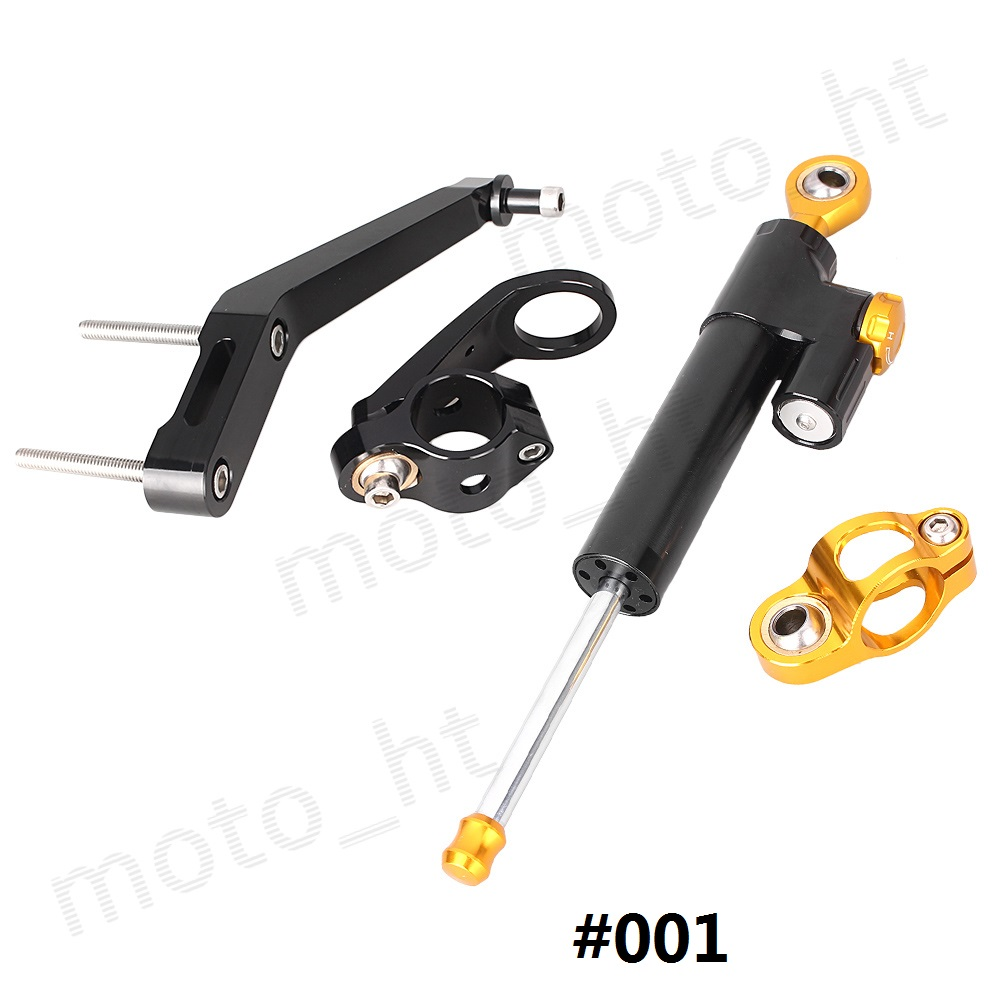 ФОТО CNC Steering Damper Stabilizer & Bracket Mounting Kit for Honda CBR954RR 2002 2003 02 03  Motorcycle Safety Control