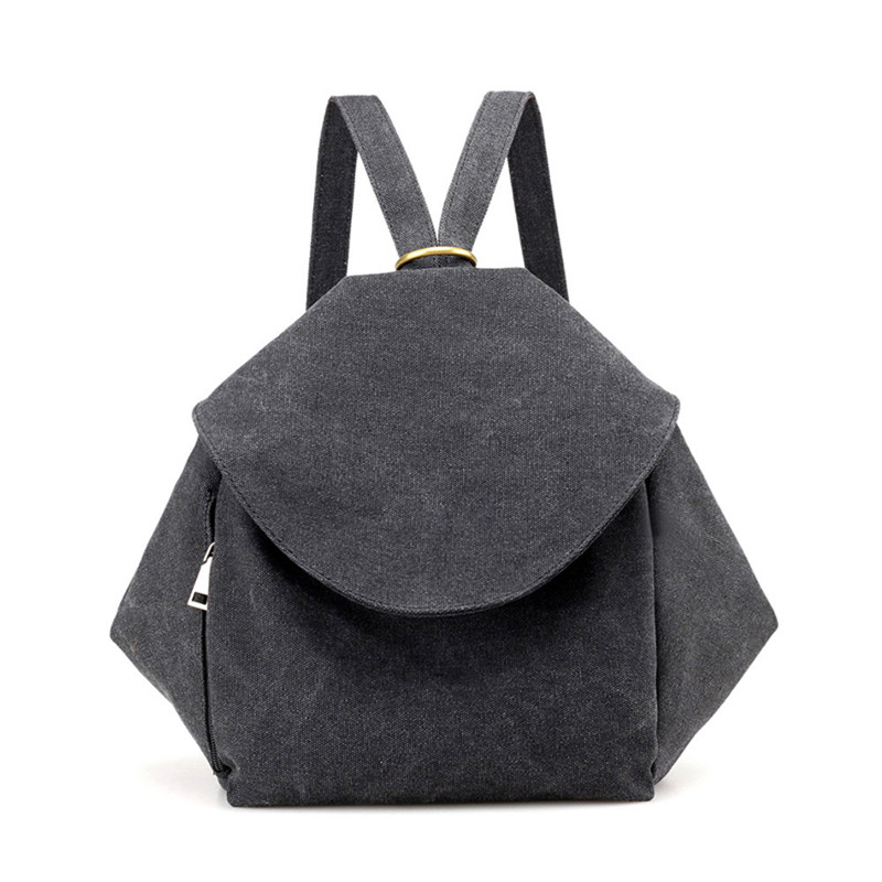 Woman Backpack Casual Soft Canvas School Shoulder Bag Large Travel Backpacks Laptop Mochila For Women 2018 Mochila Feminina #40B