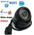HD 1080 P Cámara IP de la Red P2P Onvif Lente de Gran Angular de 2.8mm Dome WIFI Wireless CCTV 24IR LED Al Aire Libre 720 P Cámara