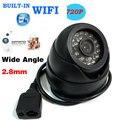 HD 1080 P Câmera IP de Rede P2P Onvif Wide Angle Lente de 2.8mm Dome 24IR CCTV WI-FI Ao Ar Livre Sem Fio LEVOU 720 P Câmera