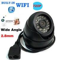 HD 720P IP Camera Network P2P Onvif Wide Angle 2 8mm Lens Dome WIFI CCTV Wireless