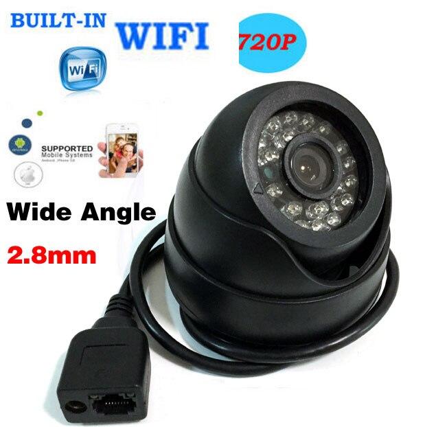imágenes para HD 1080 P Cámara IP de la Red P2P Onvif Lente de Gran Angular de 2.8mm Dome WIFI Wireless CCTV 24IR LED Al Aire Libre 720 P Cámara