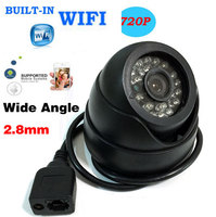 HD 720P IP Camera Network P2P Onvif Wide Angle 2 8mm Lens Dome WIFI CCTV Wireless