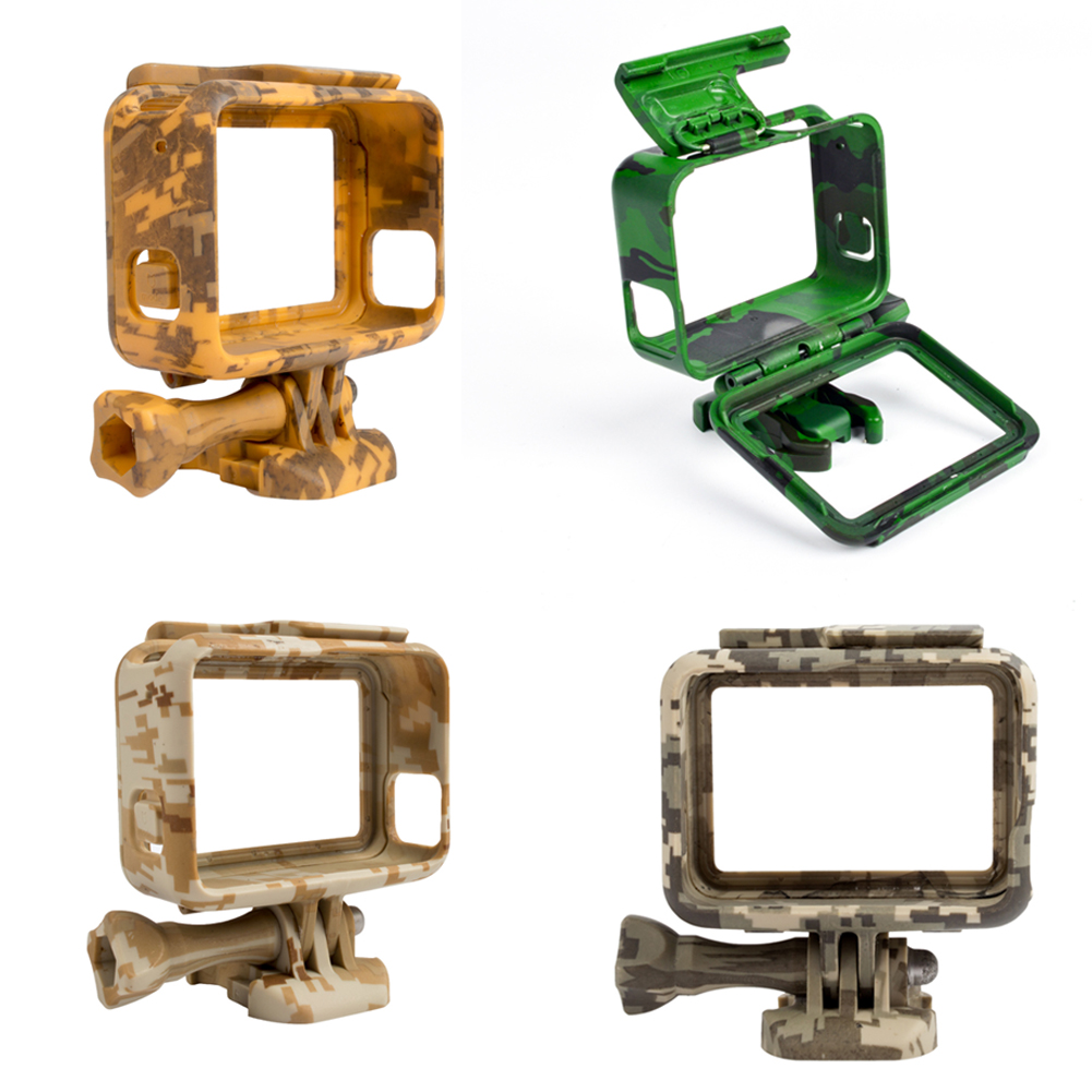 Plastic Protective Housing Sports Camera Case Outdoor Camouflage Protection Border Frame for Go Pro Hero 5