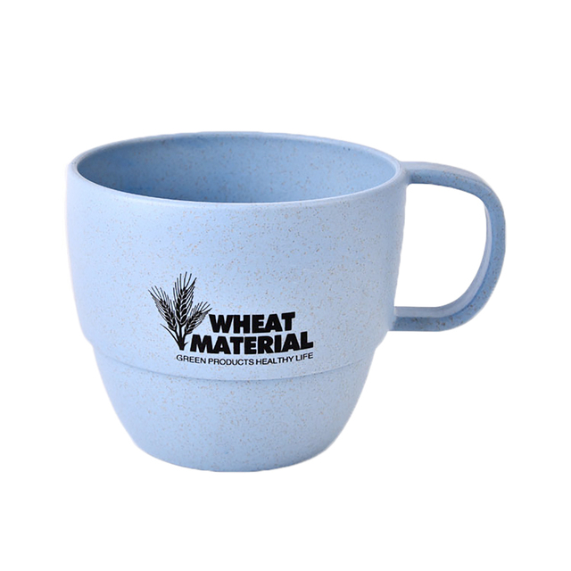 Uarter 400ml Wheat Straw Coffee Cup Eco Friendly Mug Fashionable Biodegradable Water Cups For