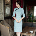 Short Style Women's Cotton Mini Cheongsam Traditional Chinese Qipao Vestido Elegant Dress Size S M L XL XXL XXXL 6X5859