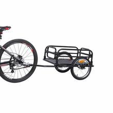 16 дюймов с большими колесами, велосипедный прицеп, большой Ёмкость складной велосипедный грузовой прицеп, бурая и кожаная детская коляска вагон для кемпинга на открытом воздухе