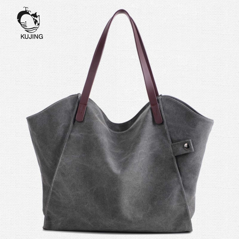 KUJING Fashion Handbags High-grade Canvas Women's Shoulder Bag Cheap Large-capacity Women Handbag Hot Shopping Leisure Bag Women japanese pouch small hand carry green canvas heat preservation lunch box bag for men and women shopping mama bag