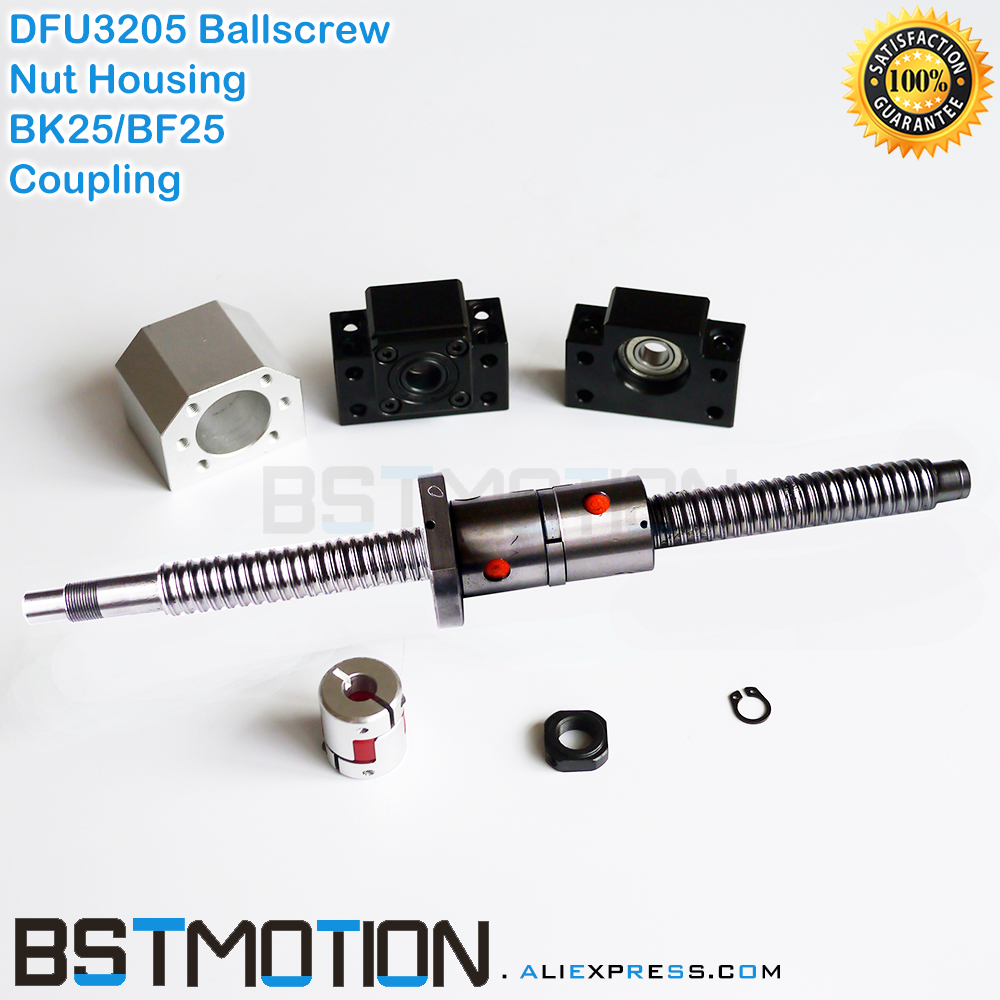 3205 Double Ballscrew 400 500mm 600 700mm 750mm 800 900 1000mm 1100mm 1200mm 1400m 1500mm DFU3205