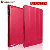 Hot New Arrival Screen Protector Smart Case For IPad 4 3 2 Cover Jisoncase Magnetic Stand