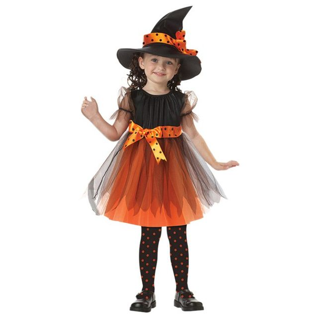 abwe best sale childrens performance suits childrens costumes halloween costumes witch performance costumes orange 110cm