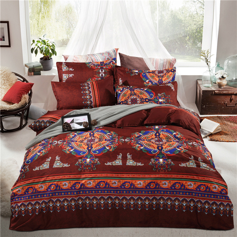 bohemian duvet cover king thicken sanded cotton bohemia boho moroccan bedding set 4856