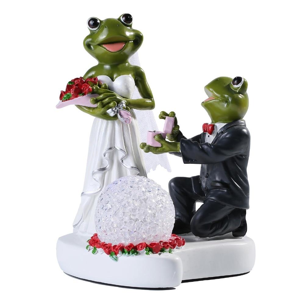 Hot Sale Frog Wedding LED Decoration Gifts figurine