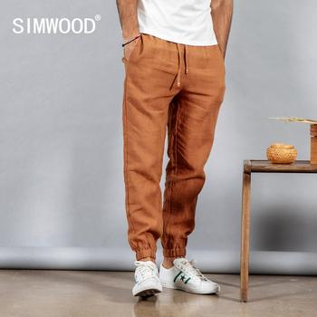 Elasticated Waistband 100% Linen Ankle-Length Pants