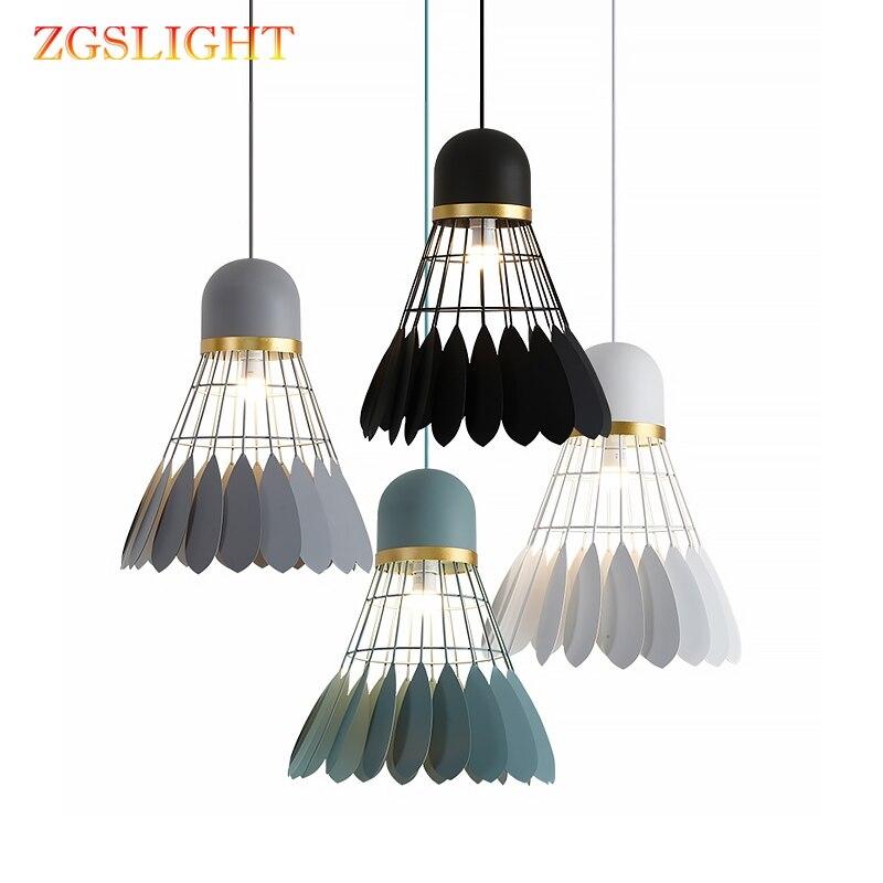 Badminton lampe lustre minimaliste moderne scandinave restaurant lampe salle à manger lampe personnalité créative Bar étude chambre