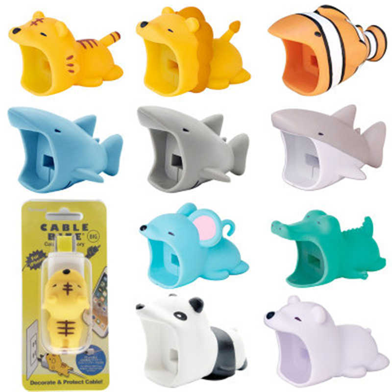 BIG Cable bite lion Cable bite protector animals Mobile Phone Connector Accessory Organizer dog toys squishy toy kabel diertjes