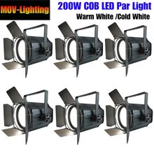 6pcs/lot Warm White 200w Indoor Led Par Light 3200K Cold White(China)