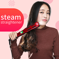 Professional steam fast hair straightener brush/curler Ceramic Vapor Electric Straightening brush/comb/Irons Hair Styling Tools