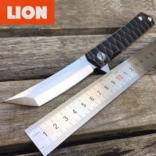 LDT Critical Tactical Folding Blade Knives Ball Bearing Tanto D2 Blade Titanium Handle Camping Survival Knife Outdoor EDC Tools