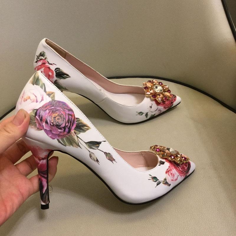 Flower Embroider Women Heel Shoes 2018 Summer Shoes Womens Sexy High Heels Party Pumps Women Hollow Mesh Dress Pumps