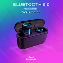 Mini Q32 TWS Wireless Bluetooth 5.0 Earphones Waterproof Earbuds With Mic Power Bank Dual-ear Calls Stereo