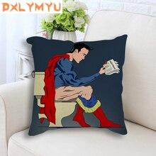 Linen Cushion Superhero Superman Batman Toilet Bathroom Printed Nordic Decorative Sofa Pillow Throw Home Decor