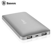 Baseus 10000 мАч dual usb power bank портативный мобильный телефон зарядное устройство powerbank для iphone 7 6 6s xiaomi mi5 redmi3 внешний батареи