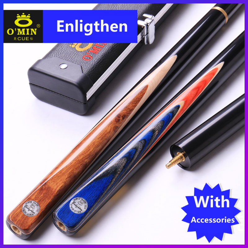 WOLFIGHTER O Min Handmade Snooker Billiards with Snooker Cue 3 4 Case 9 8 10mm Tips