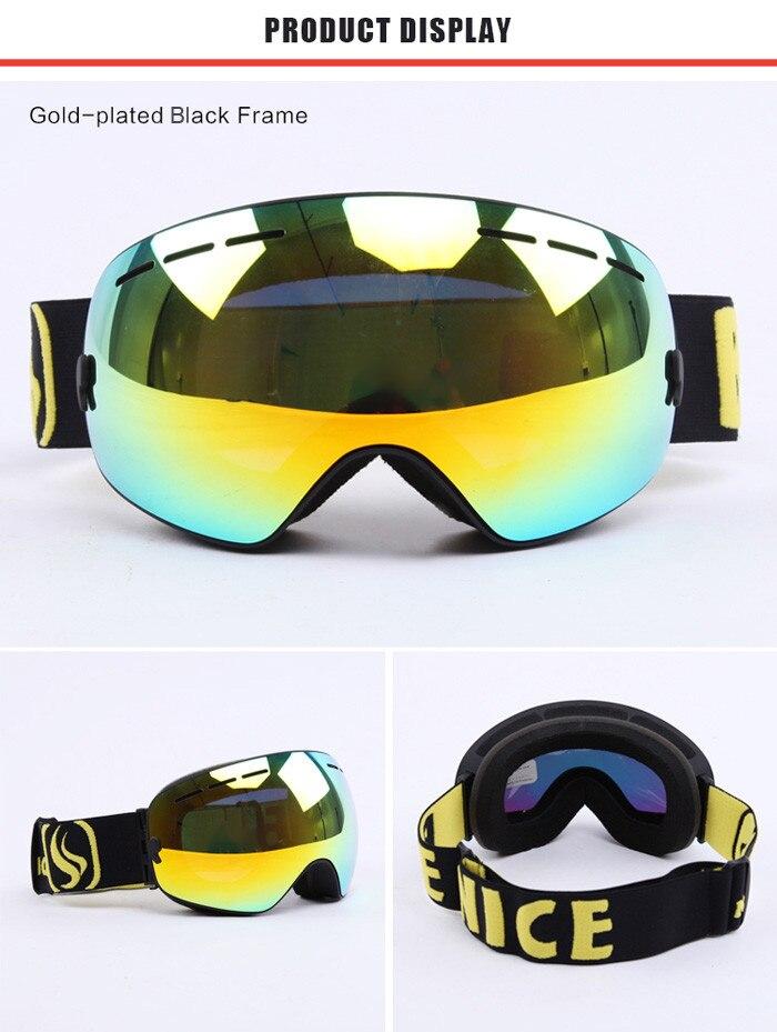 Sports de plein air lunettes coupe-vent à double couche lunettes de ski anti-Fog Super ténacité chaude et respirante lunettes de soleil polarisées pour l'homme et les femmes , red