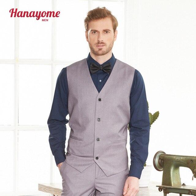 Herren Grau Karierten Anzug Weste Sleeveless 4 Tasten Anzug Weste