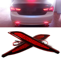 2PCS For Hyundai Sonata 8th 8 Generation Red Lens LED Rear Bumper Reflector Assemble Brake Driving
