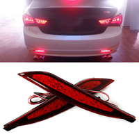 2PCS For Hyundai Sonata 8th 8 Generation Red Lens LED Rear Bumper Reflector Assemble Brake Driving