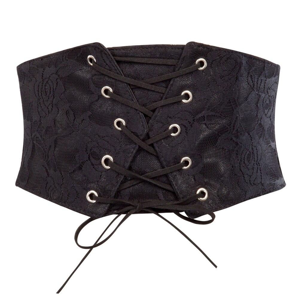 Women's Belts Strong-Willed Sexy Women Corset Belt Pu Leather Cummerbunds Zipper Bandage Hot Elastic Cincher Wide Waistband Cummerbund Black For Fast Shipping