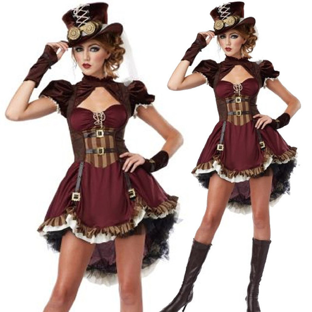 Steampunk costume for Girl sexy Adult Gothic Costume party ...