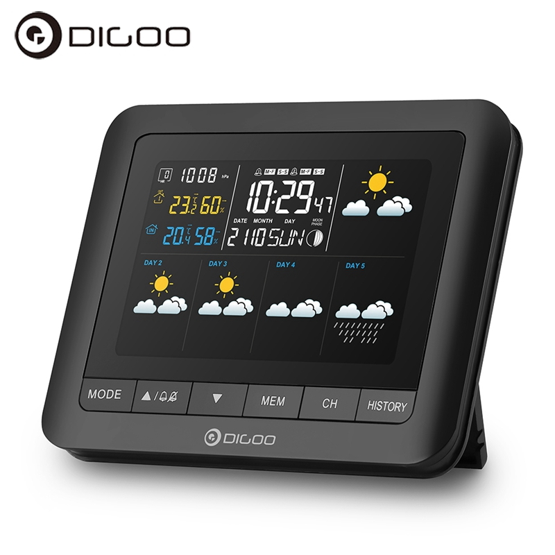 Digoo DG-TH88 Temperature Sensor Wireless Forcast Version Weather Station Color Screen Pressure Hygrometer Humidity Thermometer стоимость