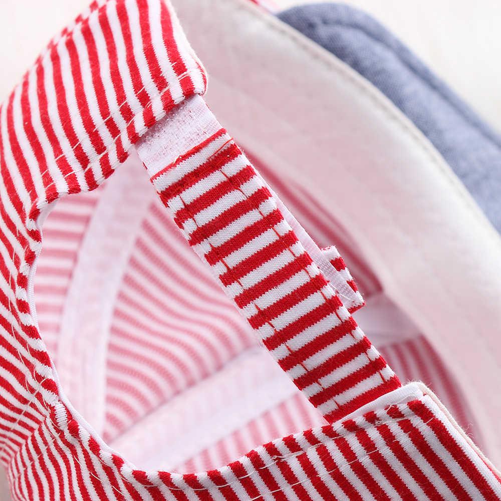 Gorros de verano para bebés y niños, gorros de algodón suave a rayas, gorra de béisbol, sombrero de sol a rayas, boina, traje para 0-2Y