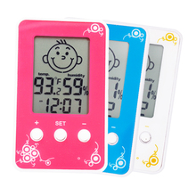 Digital LCD Thermometer Hygrometer Baby Smile Crying Face Humidity Meter Weather Station Tester Temperature clock 15% OFF