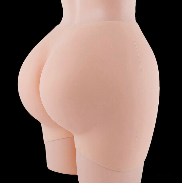 Silicone Underwear Padded Buttocks Hips Enhancer Body Shaper Pants M 4500g Fake Butt  Latex Pants  Control Panties  Pants