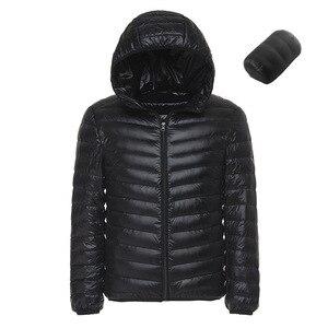 Image 3 - Doudoune légère à capuche pour hommes, couleur unie, Boutique de mode, printemps et automne, décontracté