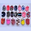 1 par de tela de algodón bebé de dibujos animados boy chicas zapatos de invierno primer caminante bebe niño mocasines 0-24 m no zapatos inferiores suaves antideslizantes