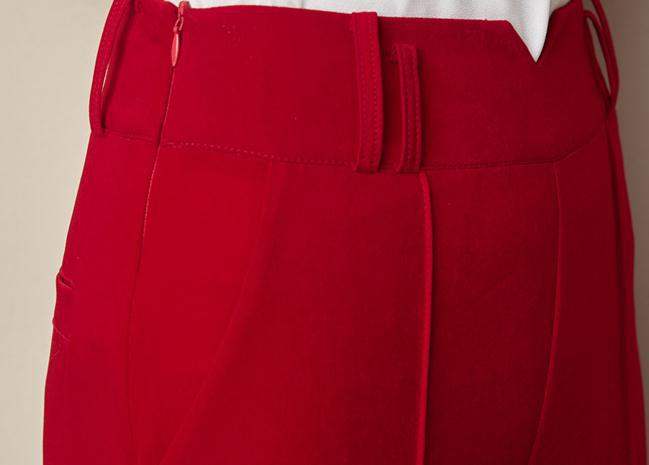 De Verano Pantalones Primavera Oficina Mujeres Ancho Hebilla Metal La Dama Black Harén Casual Pierna Alta Moda Rojo Slim Cintura Mujer Lino Las Negro Otoño Y FxZ5rEqwF