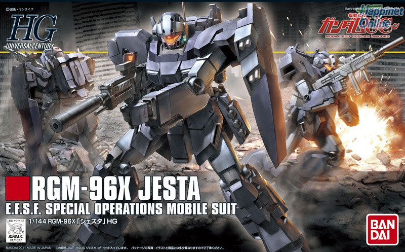 1PCS Bandai HGUC 130 1/144 RGM-96X Jesta Gundam brinquedos Mobile Suit Assembly Model Kits Anime action figure Gunpla juguetes 1pcs bandai 1 144 hguc 039 msm 07e zgok experiment gundam mobile suit assembly model kits anime action figure gunpla