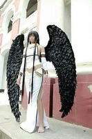 Black large adult angel wings props catwalk underwear show props festival Angel Feather wing cosplay costume