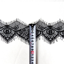 3Meters/Lot Embroidered Eyelash Lace Ribbon Black White Wedding Dress Lace Applique Trim Sewing Width/7.5cm Clothing accessories 3meters embroidered eyelash lace ribbon black white wedding dress lace trim sewing width 9cm clothing accessories lace material
