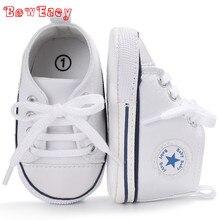 2018 новый активный All Star на шнуровке парусиновая обувь для 0-18 м для маленьких мальчиков девочек лаве-up малыша обувь не скользит Sapatos De Bebe Zapatos
