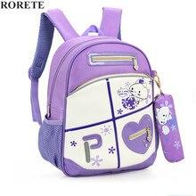 RORETE Kinder Schultaschen Marke Design Kind Rucksack In der Grundschule Rucksäcke Für Jungen Und Mädchen Mochila Infantil X572